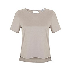 Miss Selfridge - Suedette tee