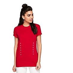 Miss Selfridge - Red hook and eye t-shirt