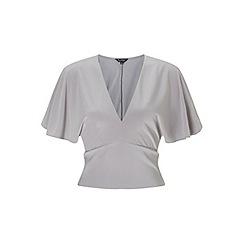 Miss Selfridge - Grey slinky batwing top