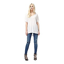 Miss Selfridge - White oversize tee