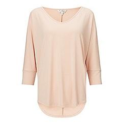 Miss Selfridge - Pink 3/4 sleeve longline tshirt