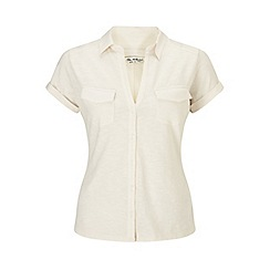 Miss Selfridge - Cream cap sleeve jersey shirt