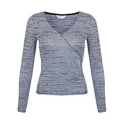 Miss Selfridge - Grey wrap top