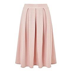 Miss Selfridge - Nude textured midi skirt