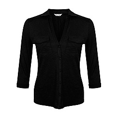 Miss Selfridge - Black jersey shirt