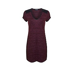 Miss Selfridge - Burgundy pu trim tunic dress