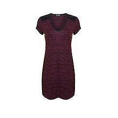 Miss Selfridge - Burgundy pu trim tunic dress