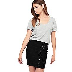 Miss Selfridge - Grey longline scoop t-shirt
