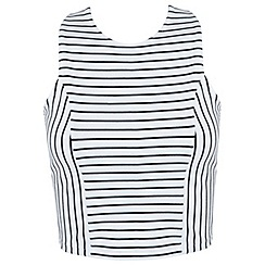 Miss Selfridge - Stripe wrap back top