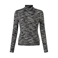 Miss Selfridge - Mono spacedye roll neck top