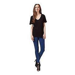 Miss Selfridge - Black longline v tee