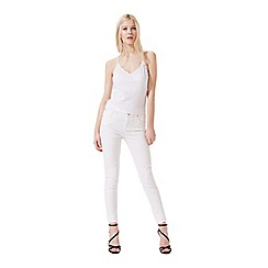 Miss Selfridge - White mock wrap crop