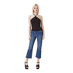 Miss Selfridge - V 90's neck halter crop