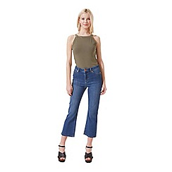 Miss Selfridge - Khaki wide strap crop