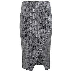 Miss Selfridge - Grey wrap pencil skirt