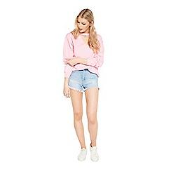 Miss Selfridge - Pink choker sweatshirt