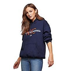 Miss Selfridge - Navy Newyork print hoody