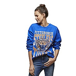 Miss Selfridge - Blue Pittsburgh sweatshirt