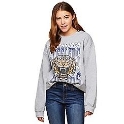 Miss Selfridge - Grey pittsburgh sweatshirt