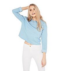 Miss Selfridge - Blue crop sweatshirt