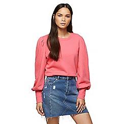 Miss Selfridge - Pink volume sleeves sweatshirt