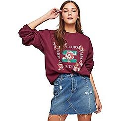 Miss Selfridge - Burgundy fleurs jardin sweatshirt
