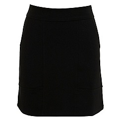 Miss Selfridge - Black ponte skirt