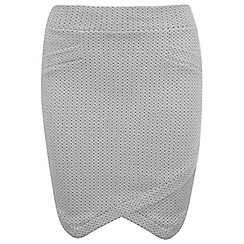Miss Selfridge - Grey wrap mini skirt