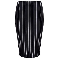 Miss Selfridge - Blue pinstripe pencil skirt