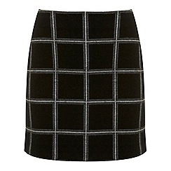 Miss Selfridge - Black check a line skirt
