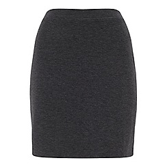 Miss Selfridge - Grey a line mini skirt