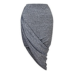 Miss Selfridge - Grey origami wrap midi skirt