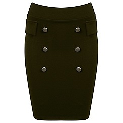 Miss Selfridge - Button front skirt