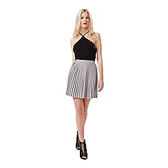 Miss Selfridge - Grey pleated mini skirt