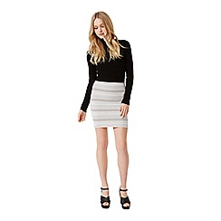 Miss Selfridge - Cream chevron mini skirt