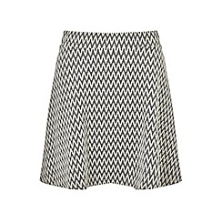 Miss Selfridge - Grey chevron skater skirt
