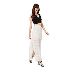 Miss Selfridge - Cream lace maxi skirt