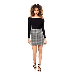 Miss Selfridge - Grid aline skirt