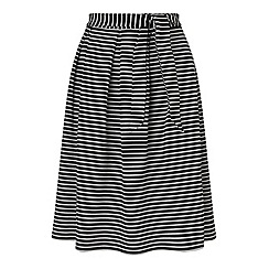 Miss Selfridge - Black stripe midi skirt