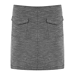 Miss Selfridge - Grey texture a line skirt