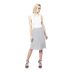 Miss Selfridge - Grey pleat midi skirt