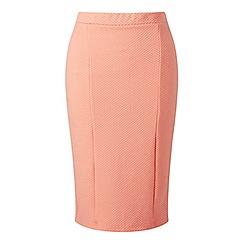 Miss Selfridge - Peach texured pencil skirt