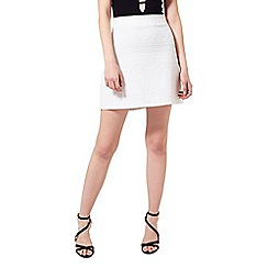 Miss Selfridge - White textured tube skirt