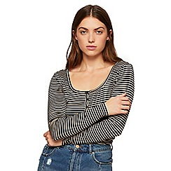 Miss Selfridge - Stripe grandad top