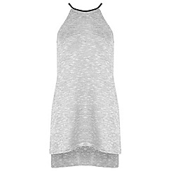 Miss Selfridge - Grey step hem tunic