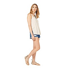 Miss Selfridge - Nude scoop neck vest