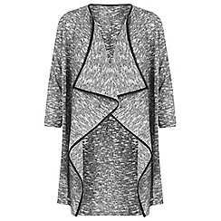 Miss Selfridge - Grey waterfall cardigan
