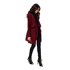 Miss Selfridge - Burgundy waterfall cardigan