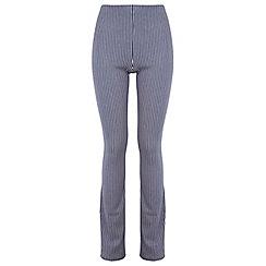 Miss Selfridge - Stripe bootleg trousers