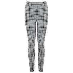 Miss Selfridge - Grey check tube trouser
